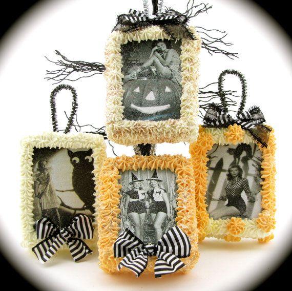 Pin Up Witch Halloween Ornaments/ Door by 12LegsCuriosities