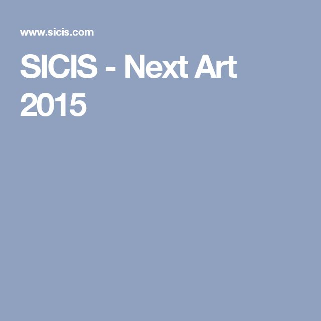 SICIS - Next Art 2015