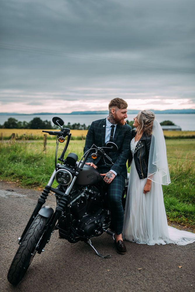 Colin and Tash wanted a wedding with good food, good wine and good people. They wanted it to be laid back and non-traditional and chose a restaurant as their venue. When she couldn't find her dream dress in the usual places, the bride bought one on Etsy, and the groom ignored the traditional Scottish wedding dress code of a kilt, opting for tartan trousers as a nod to his late grandfather.