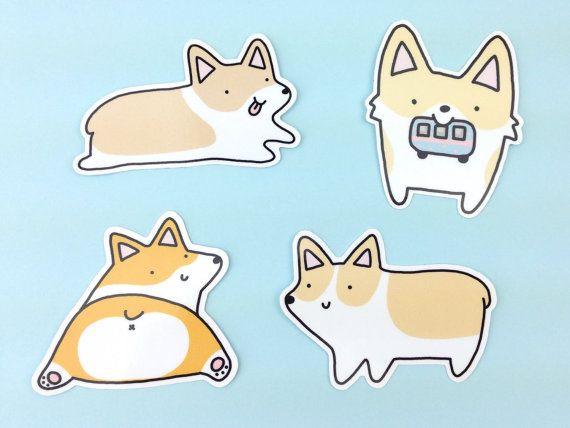 Hoi! Ik heb een geweldige listing op Etsy gevonden: https://www.etsy.com/nl/listing/293944379/corgilicious-corgi-sticker-set-4-cute