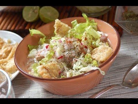▶ Pozole blanco de puerco - White pozole - Recetas de cocina mexicana - YouTube