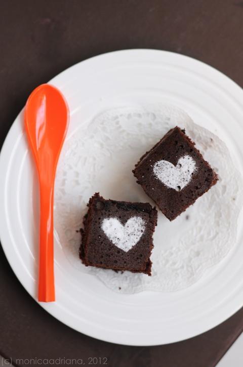 steamed chocolate brownie