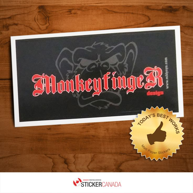 Awesome excellent quality matt paper stickers for monkeyfinger design visit us now let
