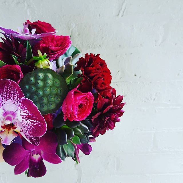 Rich jewel colours for Bridesmaid bouquets.