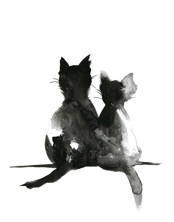 Direct from the Artist! Fine Art Print from Original Painting by CanotStop Cat L… – katzen