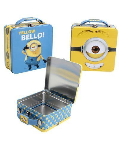 "Minions Lunch Box with Handle 5 3/4"" -id.29969"