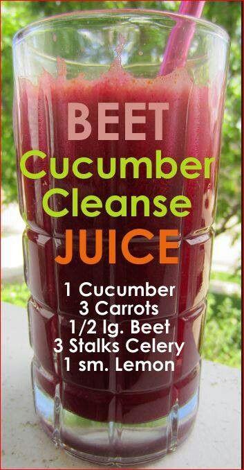 Slow Juice Recipes Detox : Beet Cucumber Cleanse Juice Natural Remedies & Smoothies ...