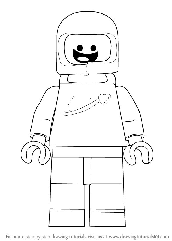 learn how to draw benny from the lego movie  the lego