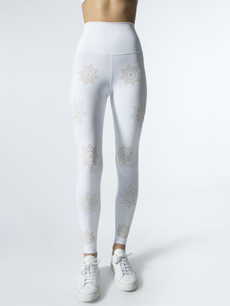 Flora Leggings in White by Beach Riot For Carbon38 from Carbon38