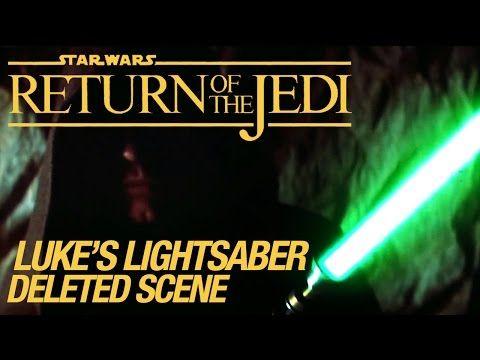 Star Wars VI Return of the Jedi Deleted Scene: Luke's Lightsaber - YouTube