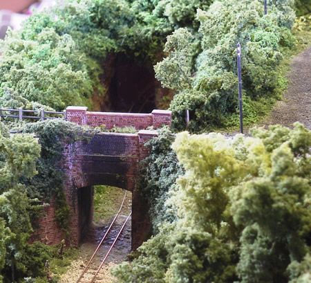 Model Train Scenery | The bridge at County Gate. Stalagmites under the bridge were made by ...