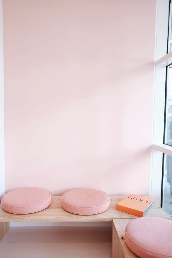 Gorgeous, soft pink cushions - the perfect retreat!