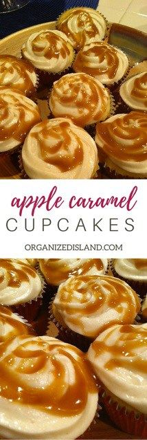 These Apple Caramel cupcakes are so tasty and easy to make. No one has to know your secret!
