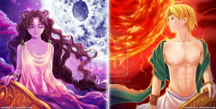 MYth: Sun . Moon by zeldacw.deviantart.com on @deviantART