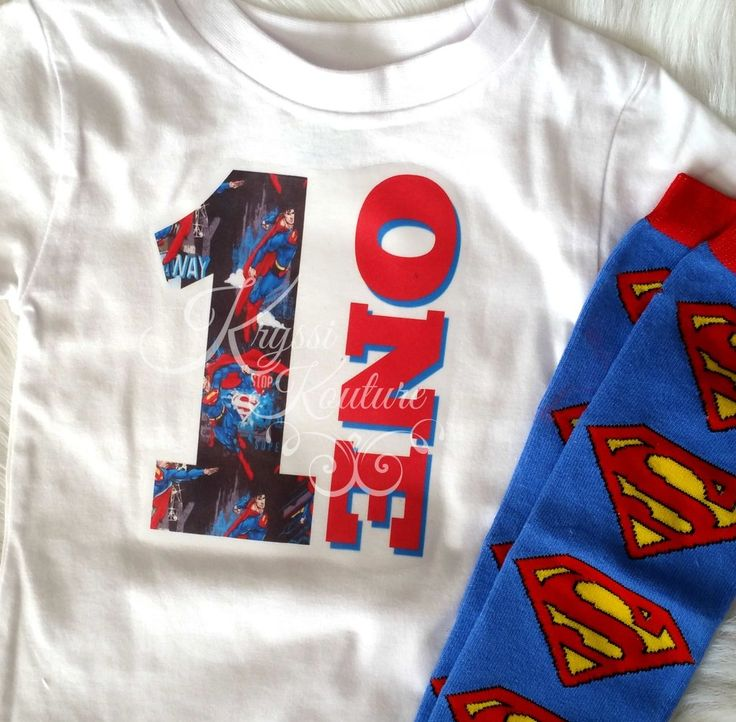 Superman ONE Birthday Shirt © - First Birthday - Superman Shirt - Kids Superman Shirt - Superhero Birthday - Smashcake Shirt-Baby Shirt
