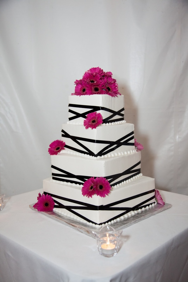 54 best Pink & Black Weddings images on Pinterest | Pink black ...