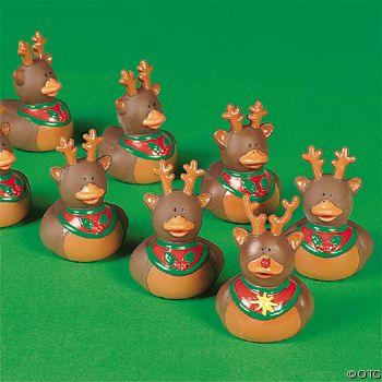 Rudolph and Reindeer Rubber Ducks