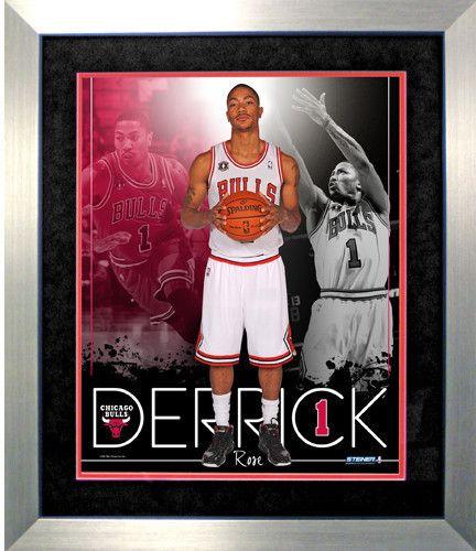 Derrick Rose Chicago Bulls Team Colors Composite Vertical Framed 16x20 Collage
