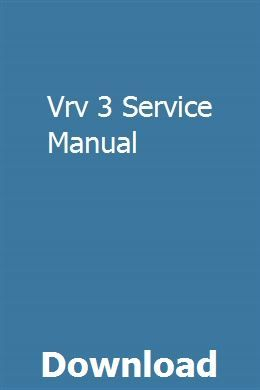 Vrv 3 Service Manual | fimunmeymu | Repair manuals, Bus