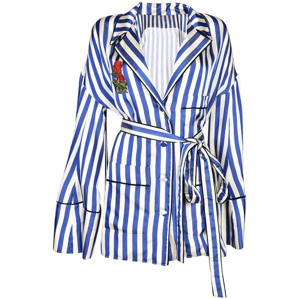 Off White Stripes Shirt (€875) ❤ liked on Polyvore featuring tops, multicolor, multicolor striped shirt, striped top, multi colored shirt, multi color shirt and stripe shirt