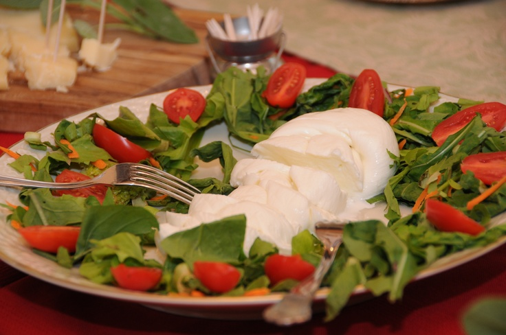 Fresh mozzarella cheese served during our brunch from 9am till 11am at Podere Salicotto