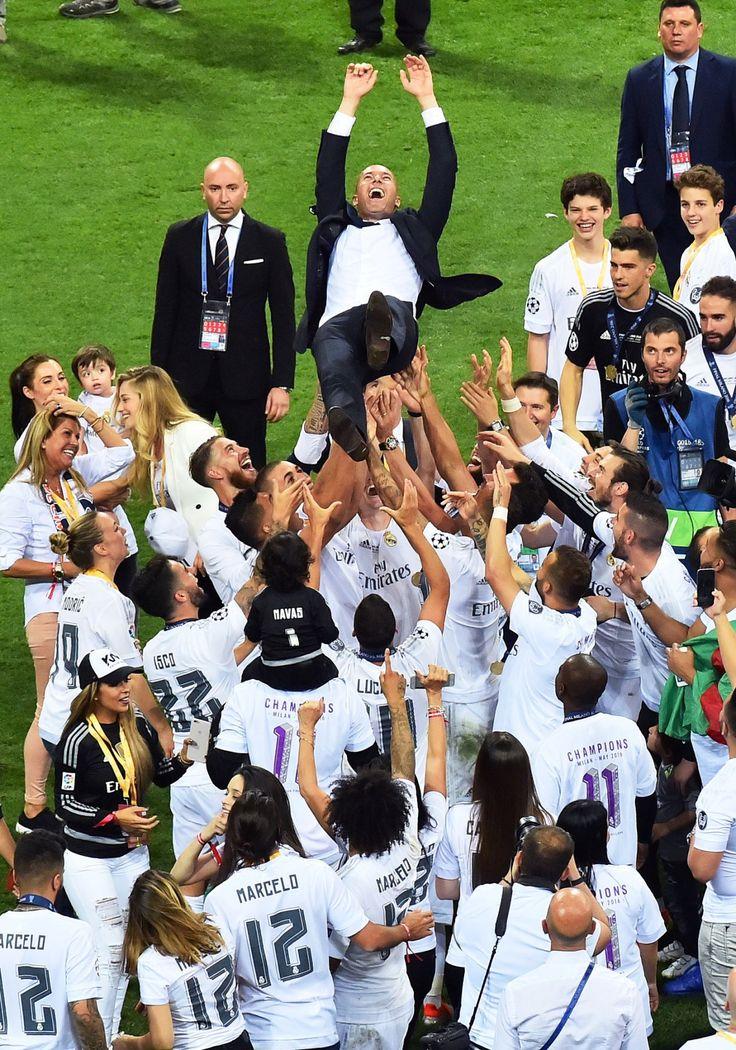 UEFA Champions League Real Madrid celebration
