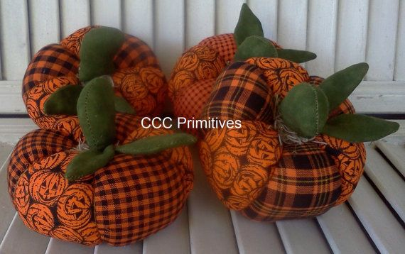 Primitive Halloween Patchwork Pumpkins Halloween di CCCPrimitives