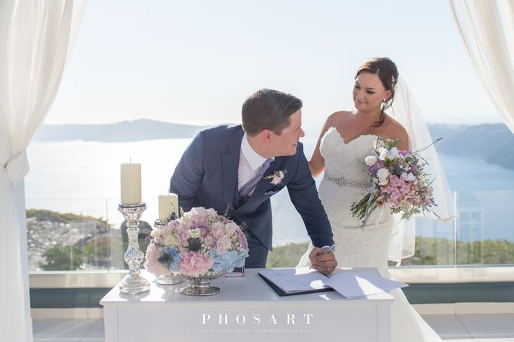 Smith Adam & McCarthy Ellis, Santorini Weddings, Wedding venue, Wedding ceremony and reception, Sunset view, Ionian Weddings.