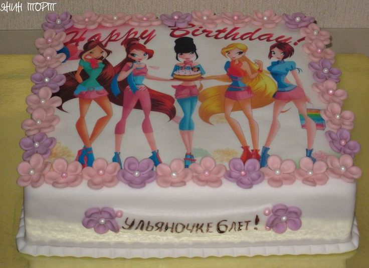 Торт со съедобной картинкой