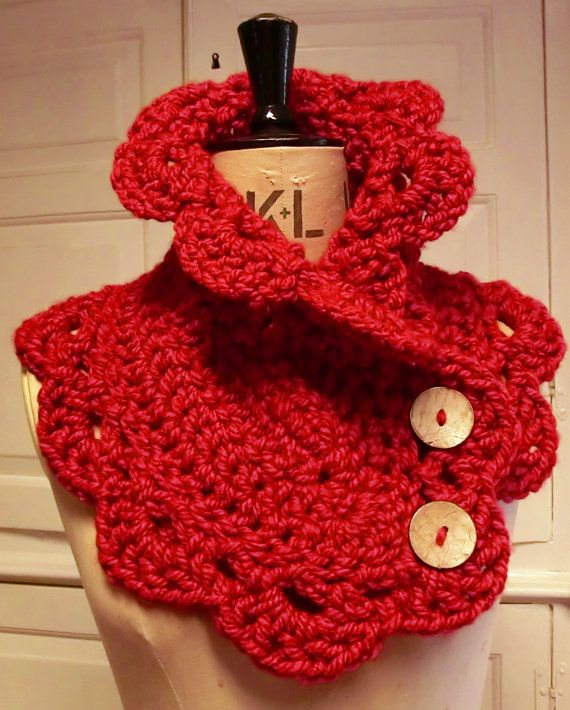 Crochet Cowl Pattern by RuthMaddock on Etsy, $4.50 Also available as a ready made in my Etsy shop.