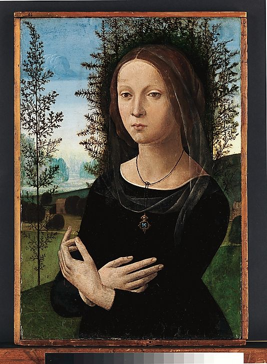 Portrait of a Young Woman  Lorenzo di Credi (Lorenzo d'Andrea d'Oderigo)  (Italian, Florence 1456/59–1536 Florence)    Date:      ca. 1490–1500  Medium:      Oil on wood  Dimensions:      23 1/8 x 15 3/4 in. (58.7 x 40 cm)  Classification:      Paintings  Credit Line:      Bequest of Richard De Wolfe Brixey, 1943  Accession Number:      43.86.5    This artwork is not on display: Lorenzo'S, Young Woman, Young Women, Art, Metropolitan Museum, Portraits, Painting