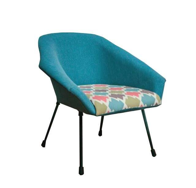 Muszelka, fotel z epoki PRL, vintage, modernizm design, mid century furniture