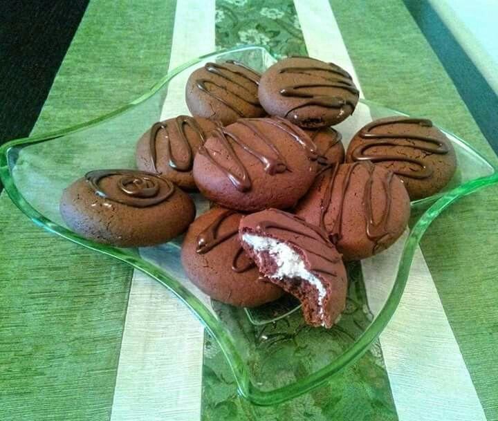 Biscotti con cuore morbido