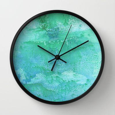 Laguna Blue Wall Clock by Alina Sevchenko - $30.00