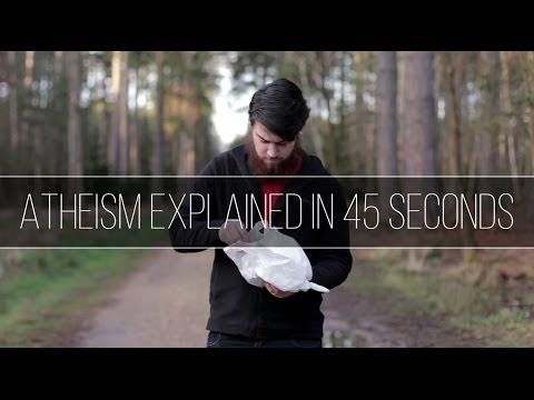 ATHEISM EXPLAINED IN 45 SECONDS #ATHEISTLOGIC