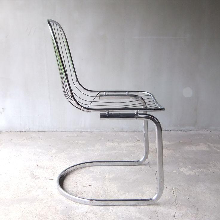 Chromowane krzesło włoskie
