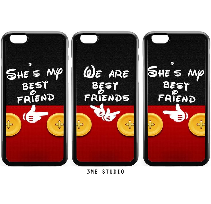 3 Bff Best Friends Couple Matching Phone Cases-She's My Best Friend We are Best Friends Cute Funny Bff Stuff Gifts 3 Bumper iPhone Cases Set. You will receive 3 Soft Bumper Rubber cases in 1 order as you see on the picture. The durable bumper case we use for all of our designs is the highest quality available on the market, also compatible with any type of screen protector, original, and 3rd party charging/audio cable. Gift Package,Unique design printed by advanced sublimation methodology...