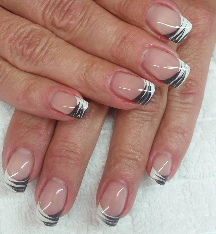 #fingernägel #gelnägel #style #schwarz #weiß #frenchna