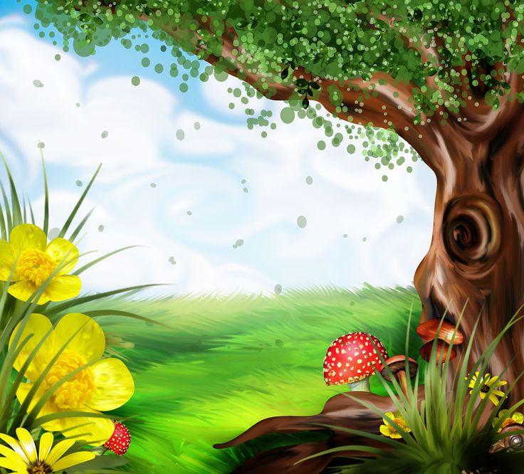 Картинки природы мультяшные