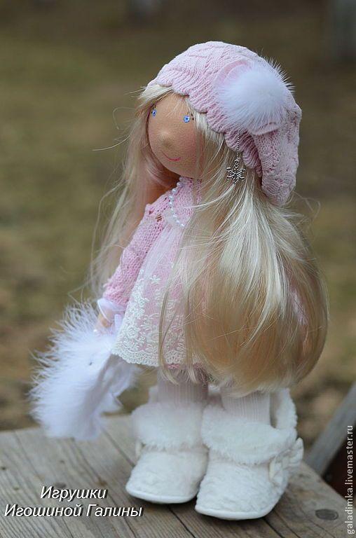 Купить Весенняя Снегурочка))))) - бледно-розовый, текстильная кукла, текстильная игрушка, подарок, подарок девушке