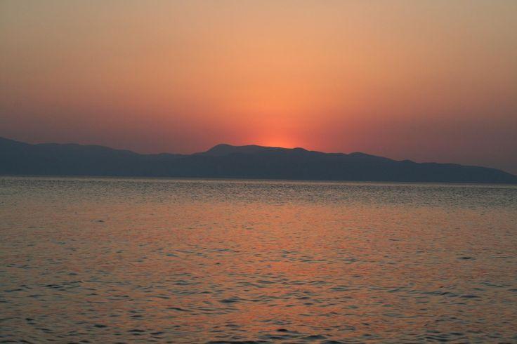 Sunrise over aegina island
