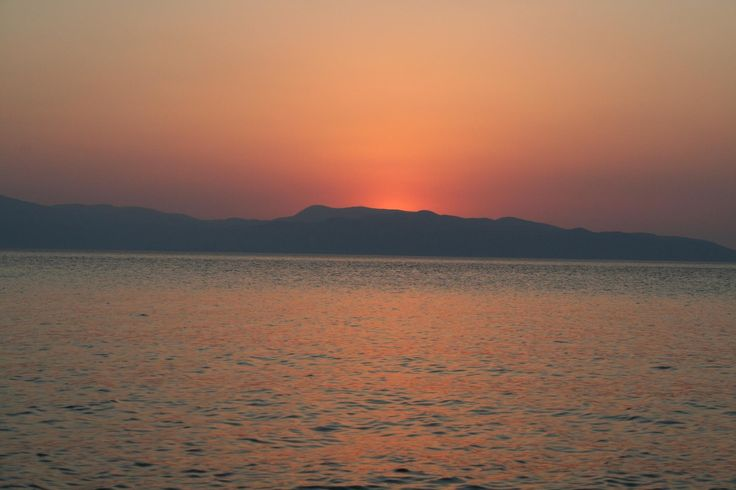 Sunrise over aegina island