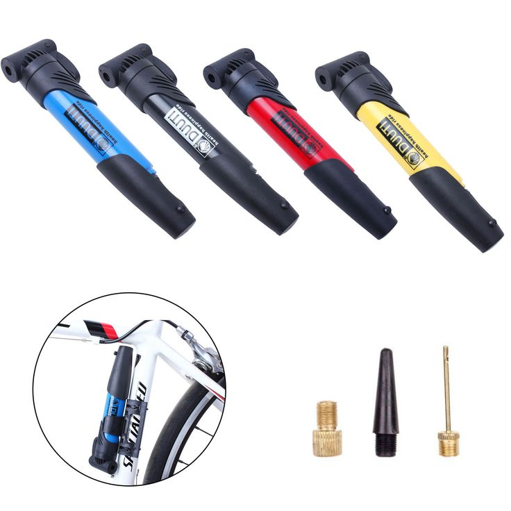 Bicycle Bike Cycle Compact Pump Presta Schrader Valves Tyre Tube Inflator