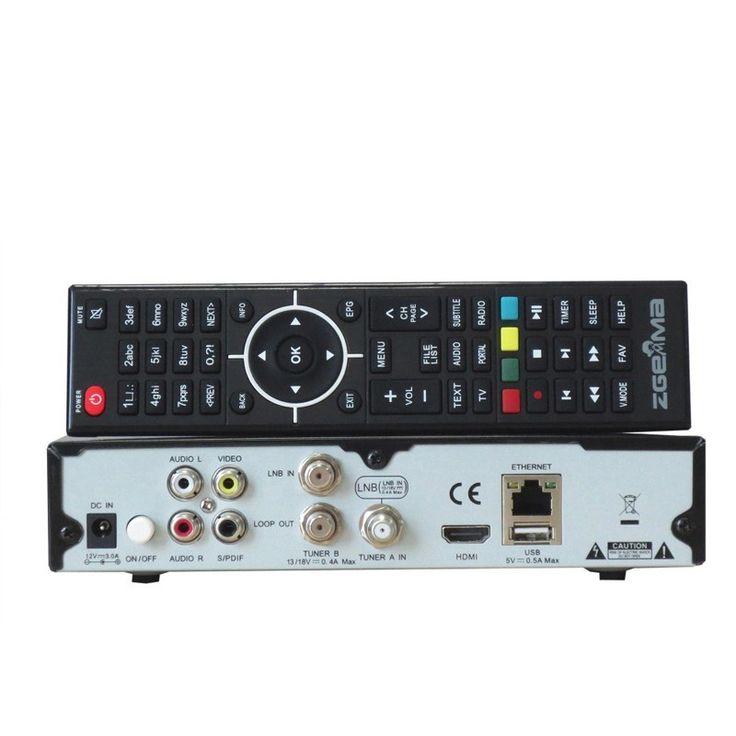 HD TV Satellite Receiver ZGEMMA H.2S Dual Core Linux OS DVB-S2+DVB-S2 Two Tuner
