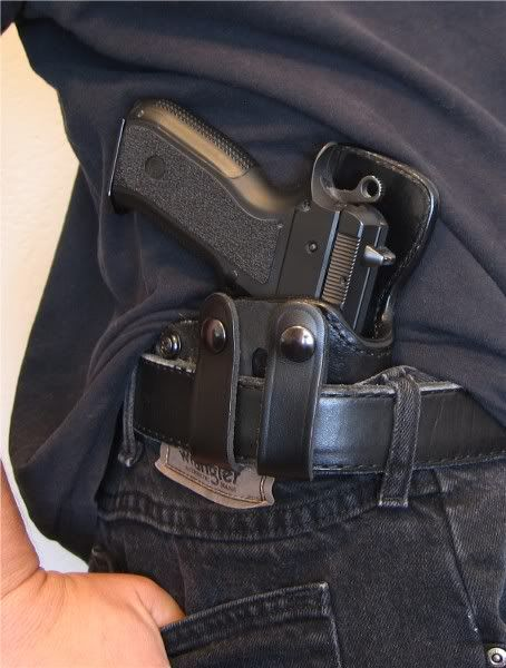CZ SP-01 9mm Pistol in High Noon IWB Holster | Colion Noir - iCarry