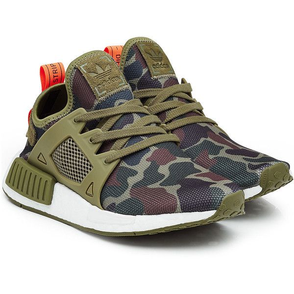 Adidas Originals NMD XR1 Sneakers ($209) ❤ liked on Polyvore featuring shoes, sneakers, multicolored, adidas originals sneakers, khaki shoes, multicolor sneakers, multi colored shoes and colorful shoes