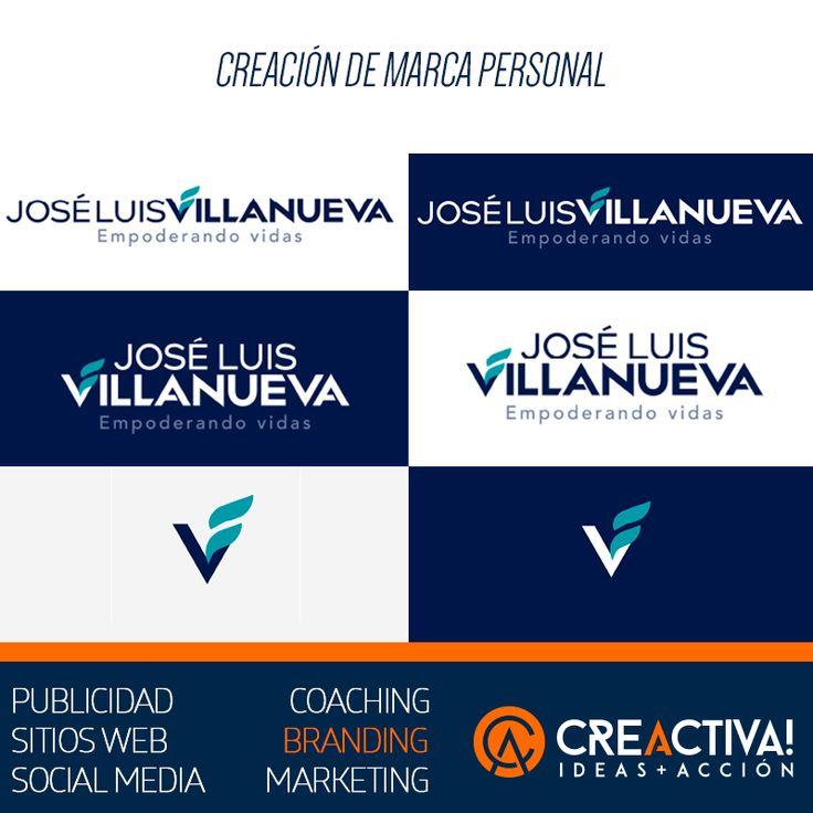 """Creación de logotipo y marca personal """"José Luis Villanueva"""" #Branding #Design #PersonalBranding #Creactiva #IdeasMasAccion"""