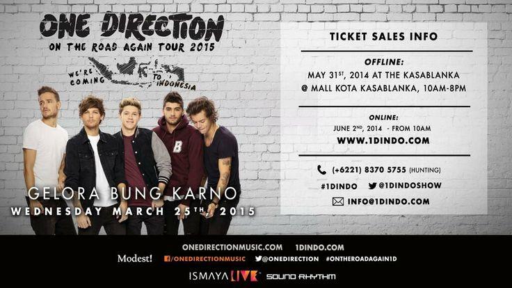 Tiket konser One Direction sudah bisa kamu booking segera lho. Ini dia tanggalnya.