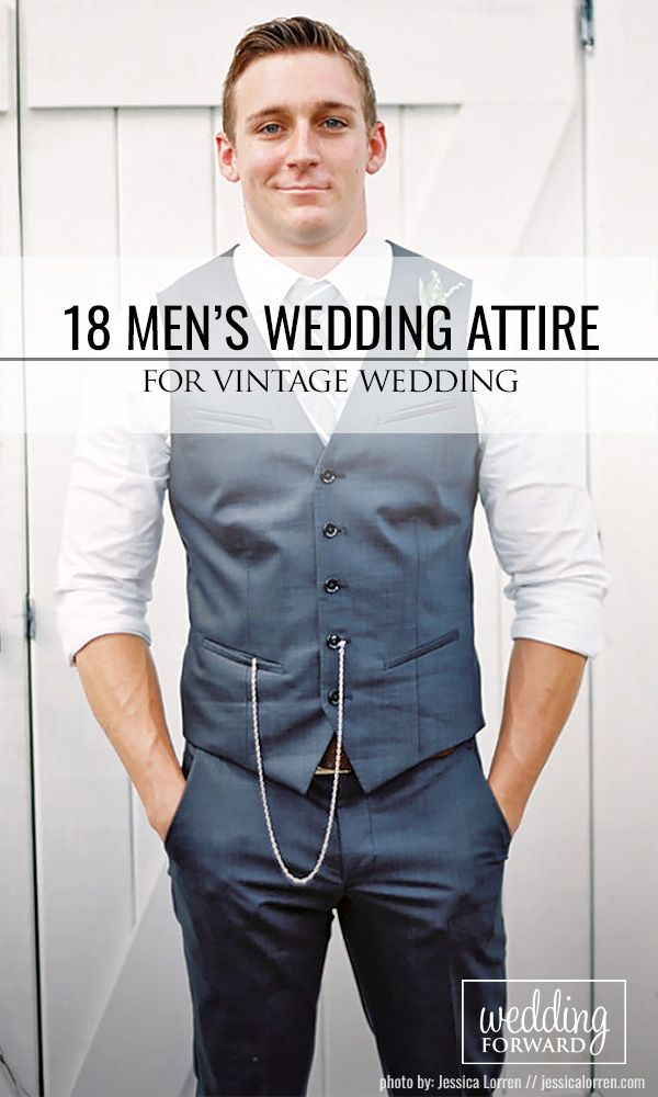 18 Vintage Men's Wedding Attire For Themed Weddings ❤ Planning a themed wedding? We got you covered! Take a look on vintage mens wedding attire! See more: www.weddingforward.com/vintage-mens-wedding-attire/ #weddings #groom
