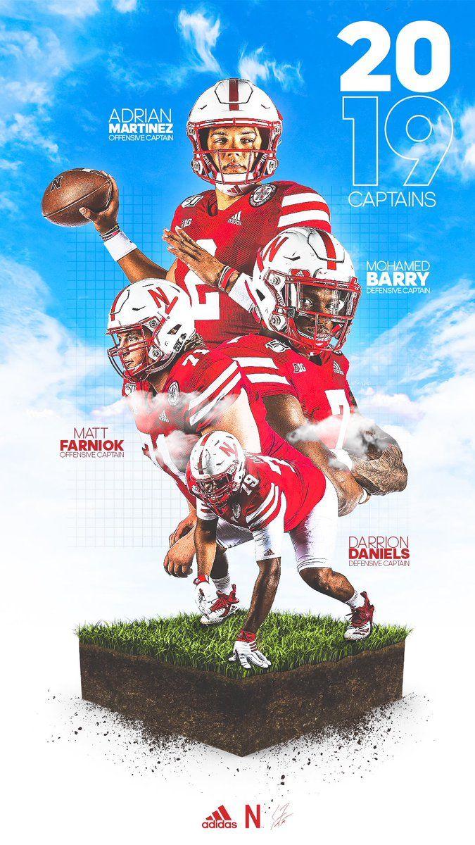 Nebraska In 2020 Nebraska Football Nebraska Cornhuskers Football Sport Poster Design